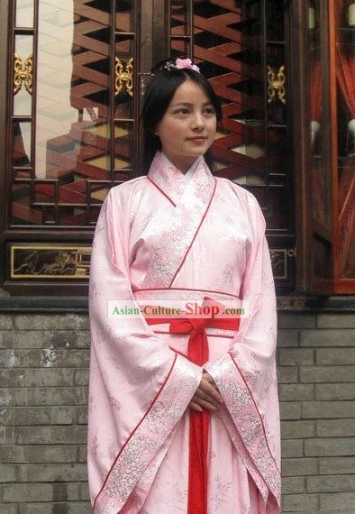 Chinese Standard Hanfu Garment Clothing Complete Set for Women