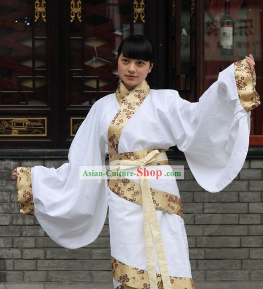 Ancient Chinese Palace Maid Costumes Complete Set for Women