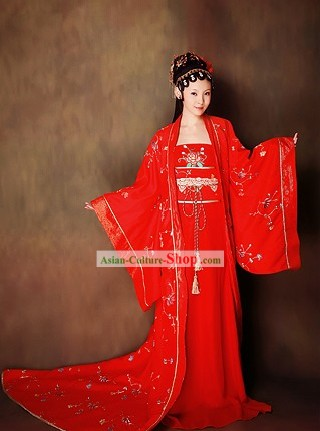 Ancient Chinese Wedding Dress and Hair Accessories