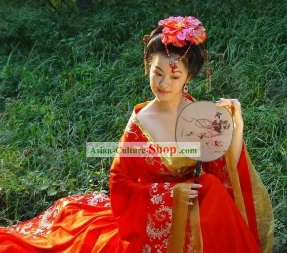 Tang Dyasty Beautiful Bride Wedding Dress