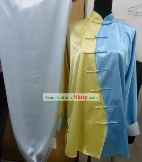 Chinese Classic Silk Tai Chi Costumes Complete Set for Men