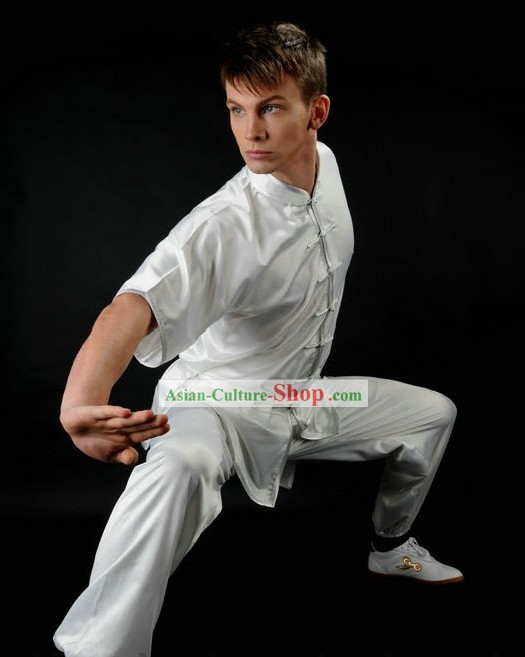 Best White Silk Tai Chi Competition Uniform for Men or Women