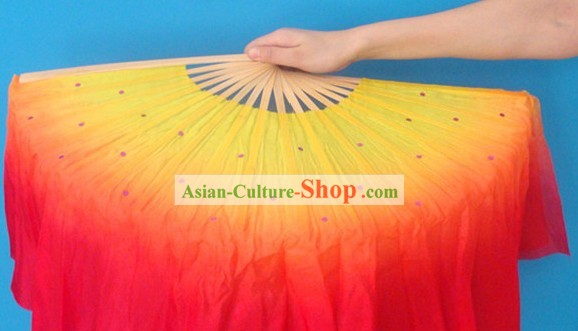 Chinese Classic Flame Silk Dance Fan