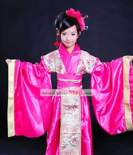 Ancient Chinese Tang Dynasty Princess Costumes for Kids