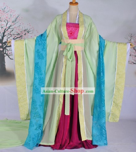Tang Dynasty Female Citizen Clothing Complete Set