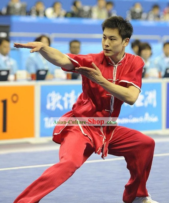 Chinese Silk Tai Chi Competition Uniform for Men