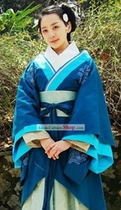 Ancient Chinese Han Dynasty Princess Clothes Complete Set