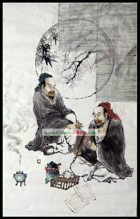 Chinese Classic Tea Painting - Jiang Tao