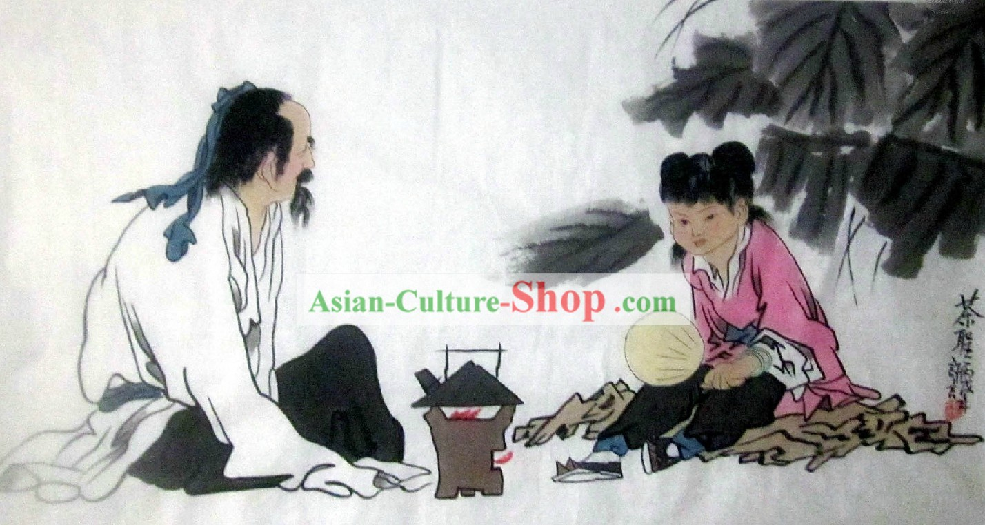 Chinese Classic Tea Painting - Xu Yan
