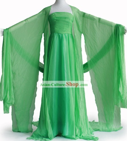 Tang Dynasty Green Lady Clothes Complete Set