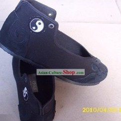Traditional Chinese Black Taoist Taiji Boots for Men