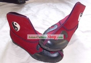Traditional Chinese Red Taoist Tai Chi Cloud Boots