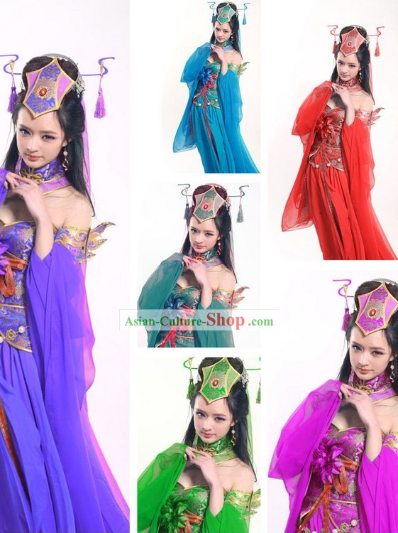 Ancient Chinese Fairy Dance Costumes for Women