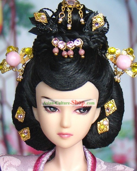 Ancient Chinese Queen Headwear and Wig