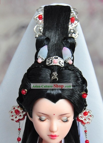 Ancient Chinese Palace Queen Headpieces and Wig