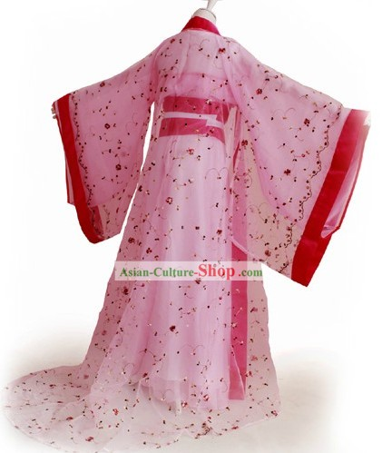 Ancient Chinese Tang Dynasty Princess Costumes Complete Set