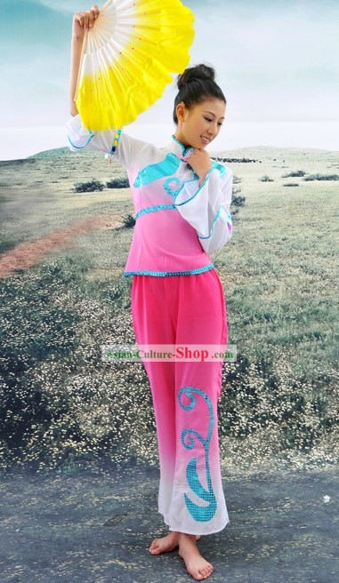 Chinese Classical Fan Dance Costumes for Women