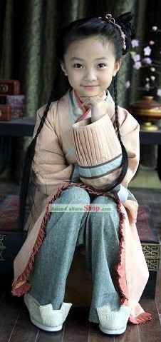 Ancient Chinese Hanfu Clothing Complete Set for Children