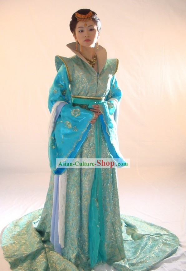 Ancient Chinese Palace Princess Costumes and Headpiece Complete Set