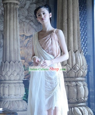 Ancient Chinese Fairy White Costumes for Women