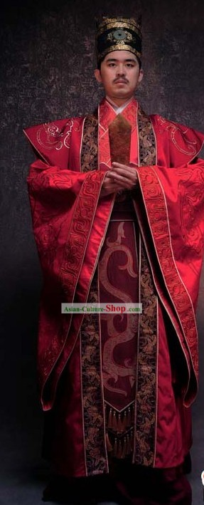 Ancient Chinese Emperor Wedding Clothing for Men