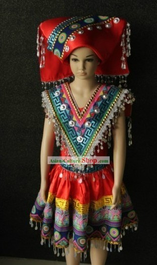 Chinese Zhuang Ethnic Clothes for Women