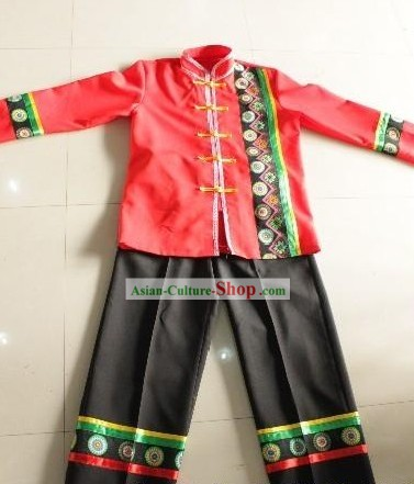 Chinese Zhuang Ethnic Clothes for Men