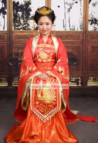 Traditional Chinese Wedding Dresses and Accessories for Women