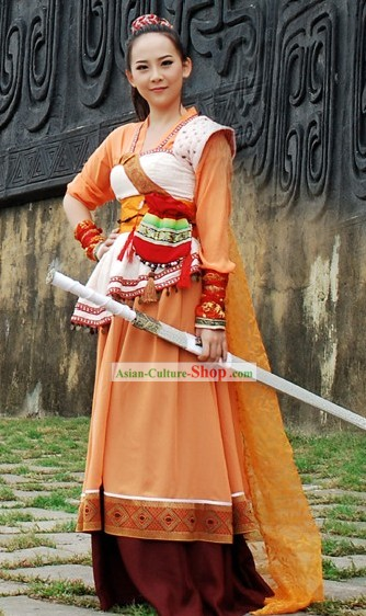 Ancient Chinese Swords Woman Costumes for Women