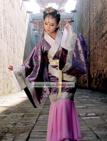 Ancient Chinese Han Dynasty Empress Clothing Complete Set