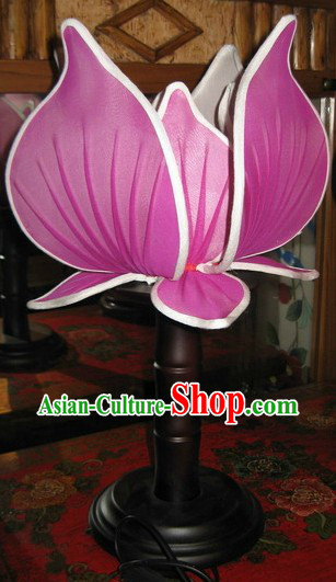 Ancient Chinese Palace Style Lotus Shape Desk Lamp