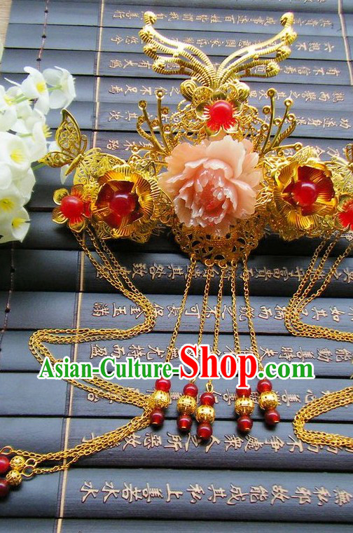 Traditional Chinese Handmade Flower Wedding Phoenix Hat