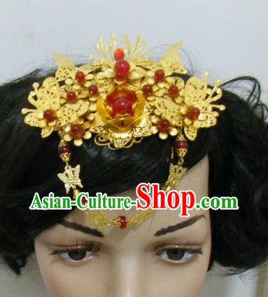 Traditional Chinese Handmade Flower Wedding Head Accessories