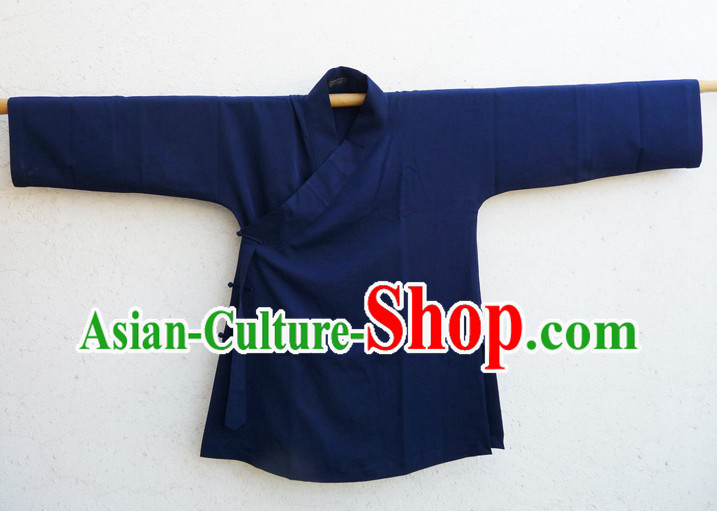 Chinese Classic Deep Blue Taoist Clothes for Men