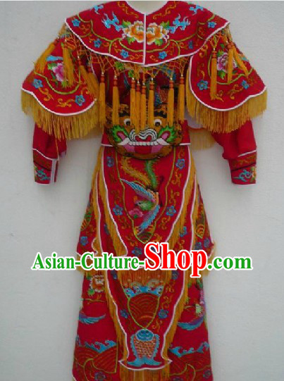 Chinese Classical Red Armor Costumes