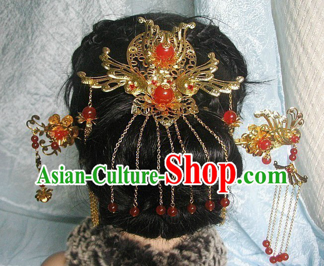 Chinese Classical Wedding Headpiece Hairpins for Women