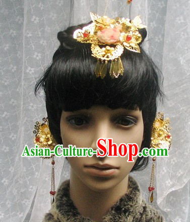 Traditional Chinese Handmade Flower Hair Clasps