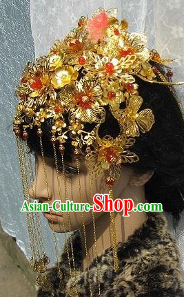 Stunning Chinese Wedding Phoenix Hat for Brides