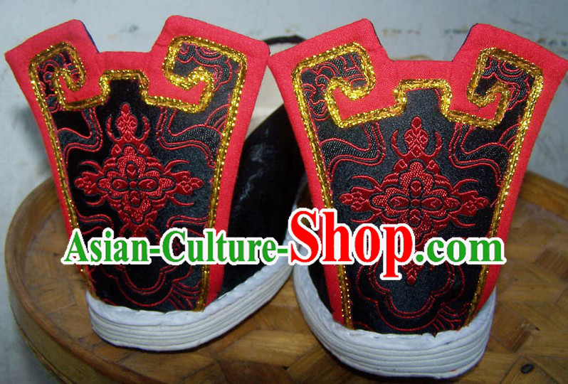 Chinese Classical Ancient Hanfu Boots for Men
