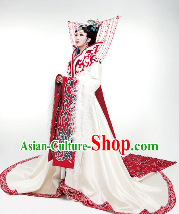 Ancient Chinese Four Beauties Wang Zhaojun Costumes and Hair Accessories Complete Set