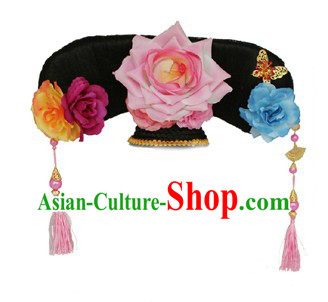 Traditional Chinese Qing Dynasty Palace Hat for Women