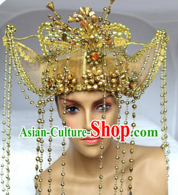 Chinese Classical Golden Hat