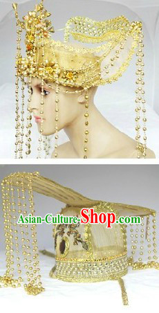 Ancient Chinese Emperor and Empress Wedding Hat