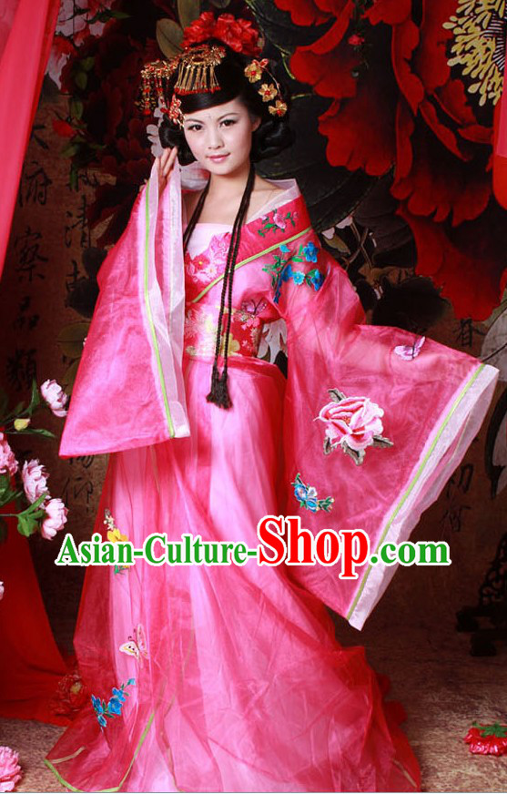 Ancient Chinese Empress Costumes and Hair Accessories for Women