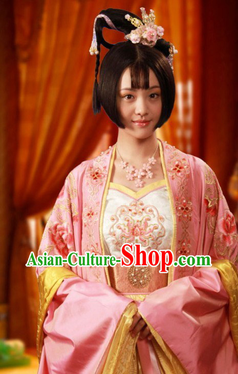 Ancient Chinese Tang Dynasty Princess Taiping Clothing for Women