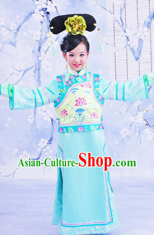 Traditional Chinese Palace Princess Lotus Clothing for Girls