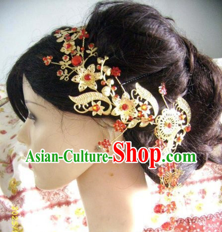 Chinese Classic Golden Flower Hair Accessories