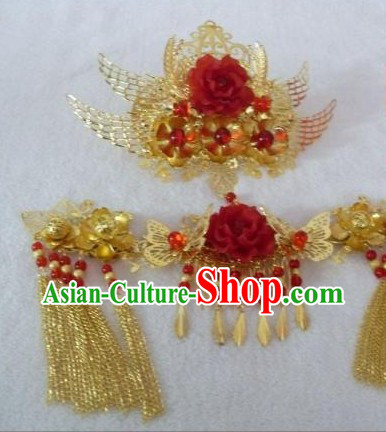 Traditional Mandarin Handmade Wedding Hair Accessories