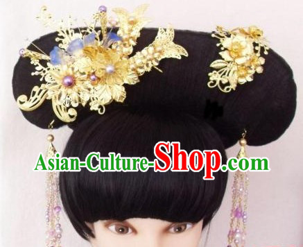 Qing Dynasty Empress Manchu Style Hair Accessories