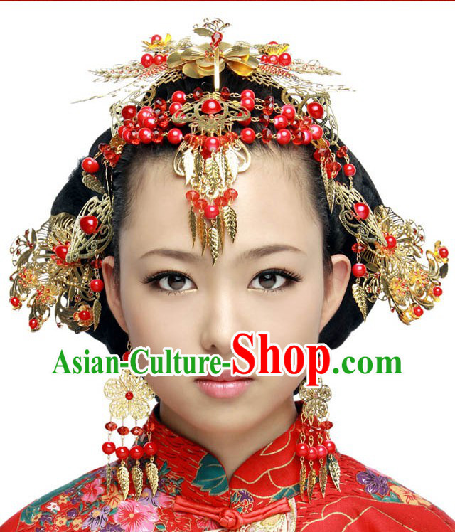 Traditional Chinese Wedding Hair Accessories Set